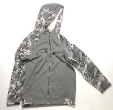 INC International Concepts Men's Grey And White  Camo Full Zip Hoodie Size Small