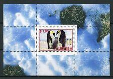 Liberia MNH Penguins Emperor Penguin 1v M/S Birds Stamps