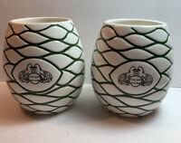 Set of 2 PATRON Tequila Tiki Mug Agave Bumble Bee 100% Authentic Ceramic Glasses