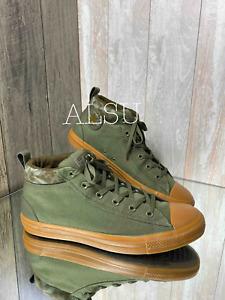 Sneakers Men Converse Chuck Taylor AS Street Mid Field  Green Canvas 161462F
