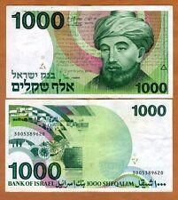 Israel, 1000 Shequalim, 1983, P-49, F