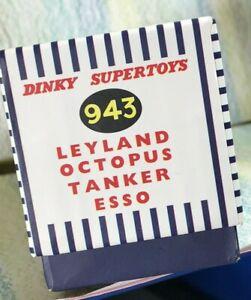 Dinky SuperToys Atlas Replica Box Mint #943 Esso Leyland Octopus Tanker empty
