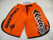 PANTALONCINO SHORT BEACH TENNIS TURQUOISE UOMO ORANGE ARANCIONE NERO TG L