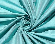 """Robin's Egg Blue 100% dupioni silk fabric yardage By the Yard 45"""" wide Wedding"""