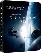 GRAVITY (Sandra Bullock, George Clooney) Blu-ray 3D + Blu-ray Disc Steelbook U.K