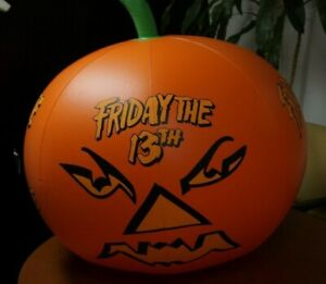 Rare 1988 Horror Movie Promo FRIDAY THE 13TH INFLATABLE PUMPKIN Store Video Disp