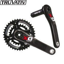 Truvativ X0 2x10spd 170mm MTB Crankset Carbon BB30 42-28T Black Red (No BB)