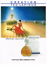 PUBLICITE ADVERTISING 044   1987   TED LAPIDUS parfum CREATION