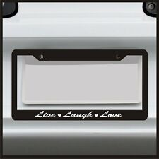 Live Laugh Love -  License Plate Frame - Sticker Car Girl Quote Saying Cute Pink