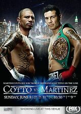 MIGUEL COTTO v SERGIO MARTINEZ WBC MIDDLEWEIGHT TITLE PROMO POSTER