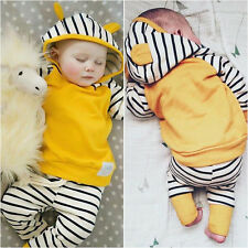 0-6M Newborn Baby Boys Girls Romper Hooded Jumpsuit Bodysuit Clothes Outfit USA