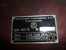 Panneau type ZF AKS-15 4-vitesse Équipement panneau Voiture ancienne Benz 170