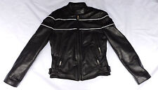Street Legal Women's Size Small Black Leather Riding Motor Cycle Jacket Coat