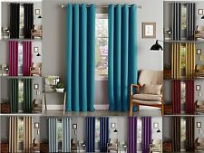 "Lina Solid Woven Thermal Grommet Blackout Window Curtain Panel 55"" Extra Wide"