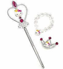 Hello Kitty Girls Princess Set Wand Bracelet Barrette