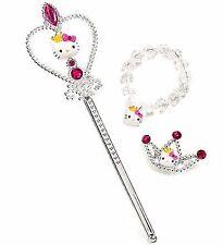 Hello Kitty Girls Princess Set Wand Bracelet Barrette