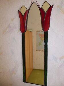 Sehr dekorativer Spiegel Tiffany Arbeit Handarbeit NEU