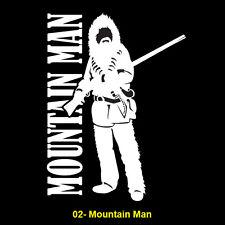 Mountain Man Vinyl Window Sticker (#02 MM Mountain Man)