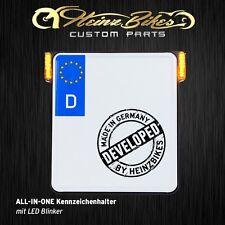 All-In-One Kennzeichenhalter mit LED Blinker für Dyna & Touring, schwarz