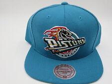 Detroit Pistons Lebron X Teal Mitchell & Ness NBA Retro 1996 Snapback Hat Cap