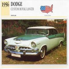 1956 DODGE CUSTOM ROYAL LANCER Classic Car Photograph / Information Maxi Card
