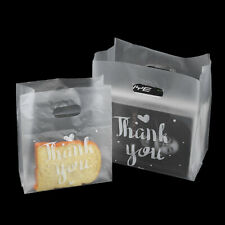 50pcs/lot Thank You Plastic Bags Natal Gift Packaging Shopping Bag With Handle