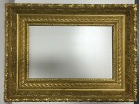 "Antique Victorian Wood 19th Century Picture Frame Fits 12 1/4"" x 19 1/2"""