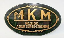 1930's MKM NO. 2100 A SILK SUPER-STOCKING counter top  Sign +