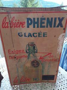 PLAQUE tôle ancienne BIERE  PHENIX Marseille