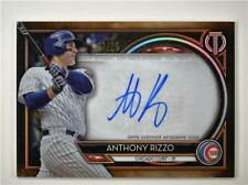 2020 Tribute Auto Orange #TA-AR Anthony Rizzo /25 - Chicago Cubs