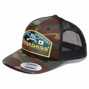 Srock Item Megabass Trucker Hat Mesh Cap Throwback Trucker Camo