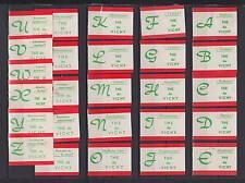 Série étiquettes allumettes Belgique  Alphabet   les bienfaits du thé Vichy