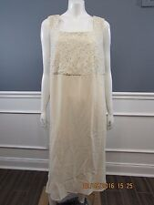 MOTHER OF THE BRIDE 22W Dress Ivory Sequin Sleeveless Chiffon SISLOU U8b1