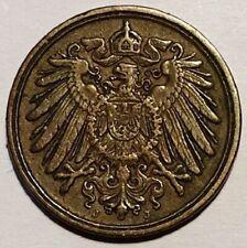KAISERREICH: 1 pfennig 1891 J