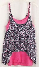 SPLENDID Girls Size 4-5 Dress Pink Flowers Layered