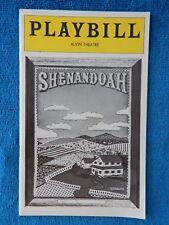 Shenandoah - Alvin Theatre Playbill - March 1975 - John Cullum - Milford