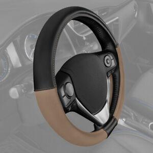 CATERPILLAR Heavy Duty Comfort Grip Leather Steering Wheel Cover  Standard Fit
