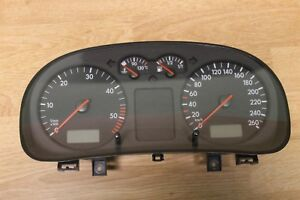 VW GOLF MK4 IV DIESEL MANUAL INSTRUMENT CLUSTER SPEEDOMETER KM/H # 1J0920806G