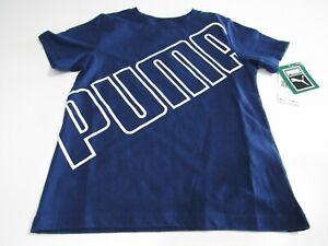 Puma Kids Young Boys Blue Tshirts Nwt