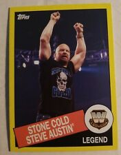 2015 TOPPS STONE COLD STEVE AUSTIN WWE LEGEND #111 HERITAGE YELLOW PROMO CARD