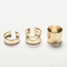 Hot Sale New 3Pcs/Set Fashion Top Of Finger Adjustable Open Ring Jewelry Gift WB