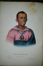Plate No 90 WAT-CHE-MON-NE 1872 Octavo History of Indian Tribes of N America