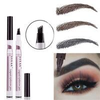 Micro 4 Head Fork Tip Eyebrow Tattoo Pen Fine Sketch Eyebrow Dye Tint Pen