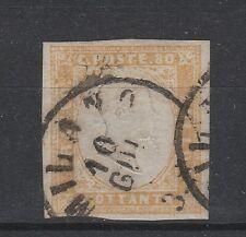 FRANCOBOLLI 1859 SARDEGNA C.80 GIALLO OCRA PALLIDO Z/5114