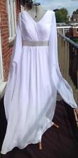 V Neck Plus Size Long Sleeve Wedding Dresses