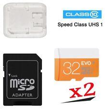 Lote de 2x32GB Tarjeta Memoria Micro SDHC Clase 10(UHS-I) + Adapter SD/MicroSD.