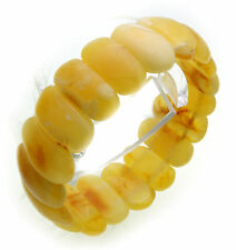 Women's Wrist Band real amber white out of the Baltic Sea Bangle rare Quality