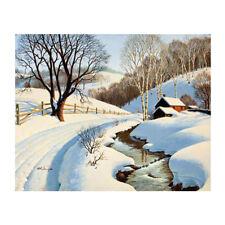 beau paysage plein foret diamant peinture point de croix photo hiver