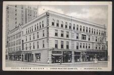 Postcard JACKSONVILLE Florida/FL  Oelker's Hat Store & Jackson Hotel view 1930's