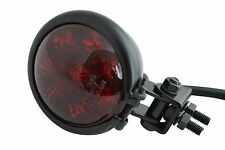 Gloss Black Steel E-marked LED Custom Stop Tail light Motorcycle Motorbike Trike